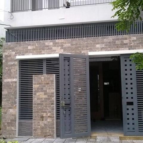 mẫu gạch ốp tường trang trí mặt tiền nhà liên kề