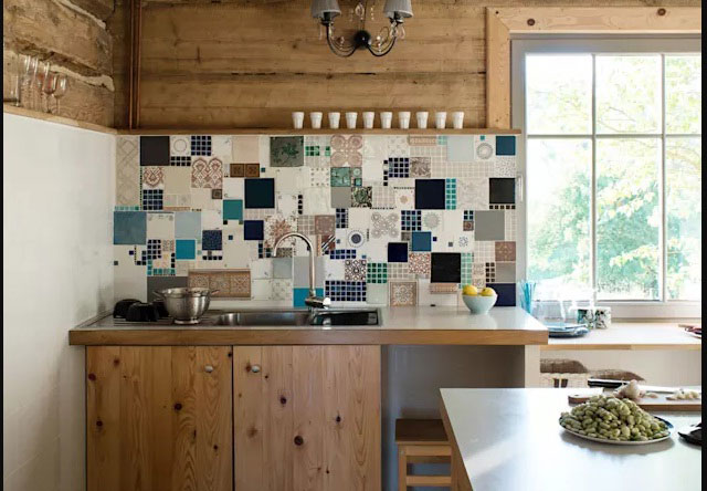 gạch ốp trang trí phòng bếp