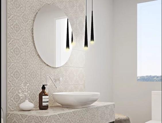 sử dụng gạch men trang trí nhà tắm