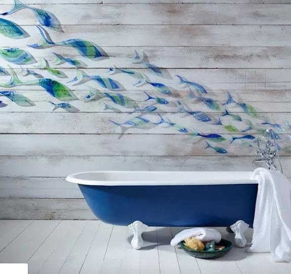 gạch lát nền nhà tắm mang hơi hướng đại đương