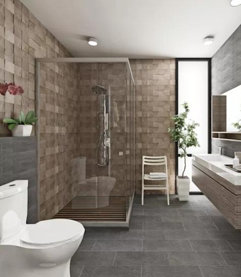 Gạch lát nền nhà tắm chống trơn dùng gạch giả sỏi được không?