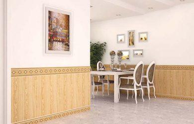 gạch ốp chân tường đẹp ưng ý cho phòng khách