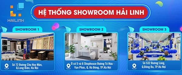 Hệ thống Showroom Hải Linh - Điểm mua sắm gạch ốp lát uy tín tại Hà Nội
