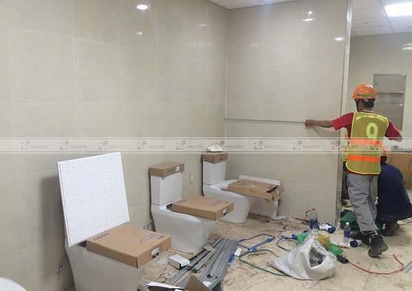 Lưu ý khi thi công gạch ốp nhà vệ sinh Viglacera