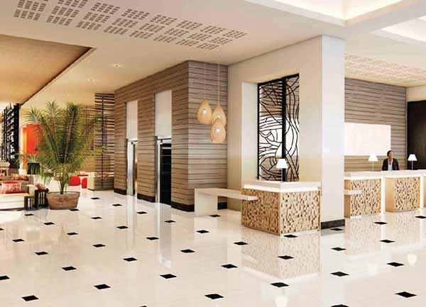Gạch 80x80 thích hợp cho đại sảnh khách sạn