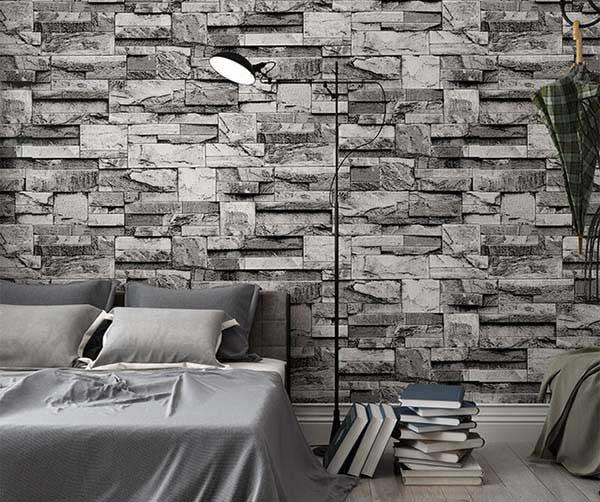 Dùng gạch ốp tường cổ điển cho phòng ngủ