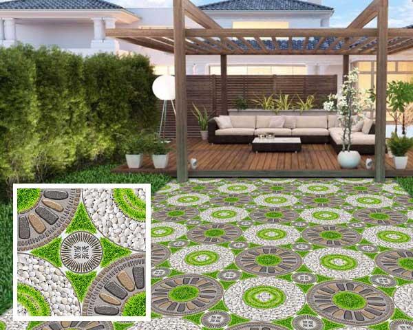 Chiêm ngưỡng các mẫu gạch sân vườn hình sỏi ấn tượng