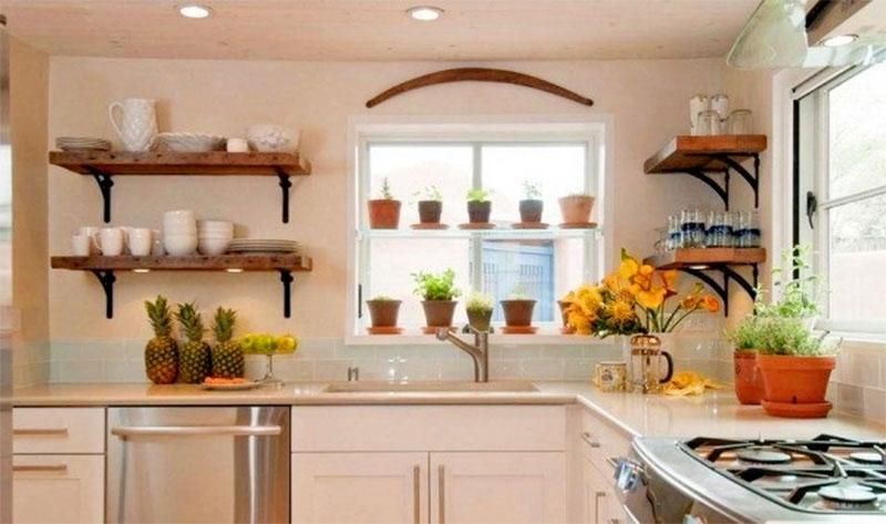 Trang trí cây xanh cho phòng bếp
