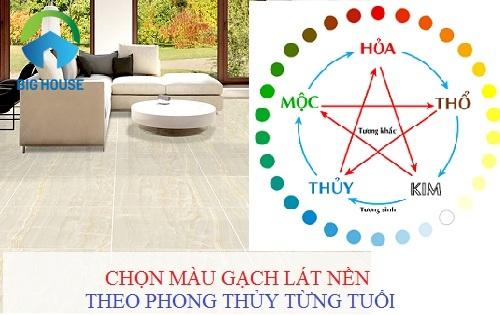 Có nên lựa chọn màu gạch lát nền hơp phog thủy cho ngôi nhà của mình hay không?