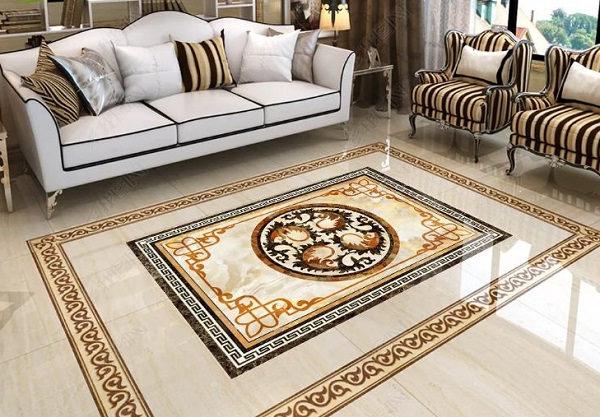 Gạch thảm lát nền phòng khách