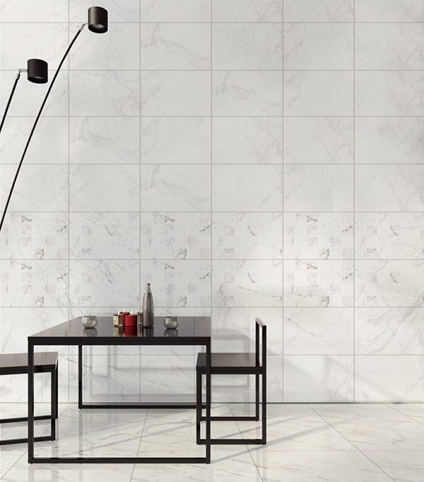 101 mẫu gạch ốp phòng khách màu trắng đẹp hottrend 2021 2
