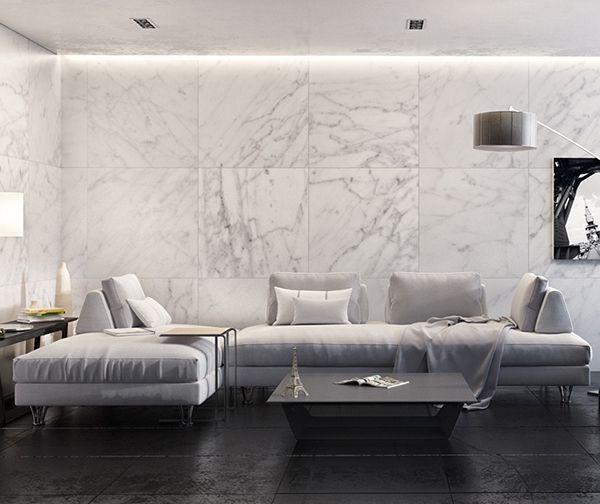 101 mẫu gạch ốp phòng khách màu trắng đẹp hottrend 2021 6
