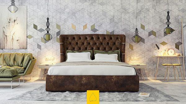 99 mẫu gạch ốp phòng ngủ đẹp vân gỗ, vân đá, 3D,..nên chọn 2021 19