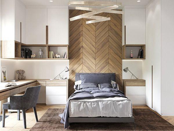 99 mẫu gạch ốp phòng ngủ đẹp vân gỗ, vân đá, 3D,..nên chọn 2021 4