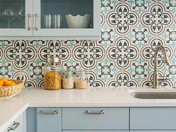 BST gạch bông ốp tường phòng bếp và Mẹo trang trí cực đỉnh 12
