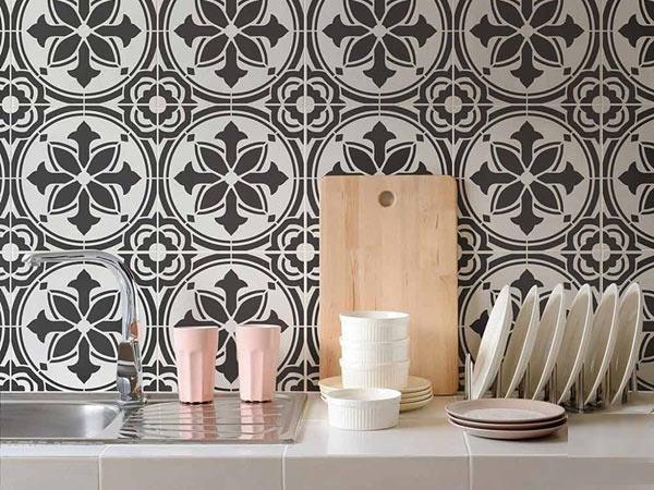 BST gạch bông ốp tường phòng bếp và Mẹo trang trí cực đỉnh 17
