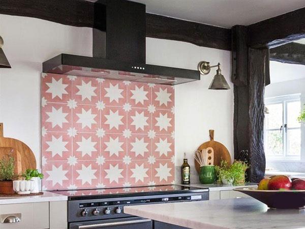 BST gạch bông ốp tường phòng bếp và Mẹo trang trí cực đỉnh 20
