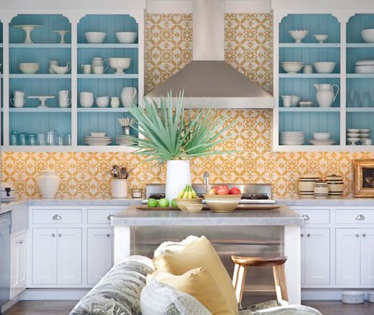 BST gạch bông ốp tường phòng bếp và Mẹo trang trí cực đỉnh 24