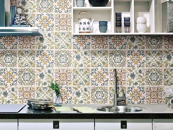BST gạch bông ốp tường phòng bếp và Mẹo trang trí cực đỉnh 3