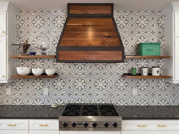 BST gạch bông ốp tường phòng bếp và Mẹo trang trí cực đỉnh 7