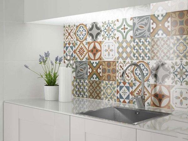 BST gạch bông ốp tường phòng bếp và Mẹo trang trí cực đỉnh 9