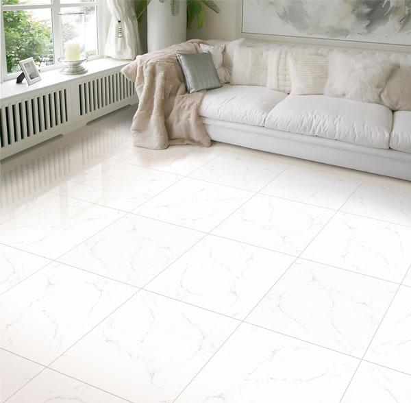 BST mẫu gạch lát nền màu trắng vân đá đẹp - sang nên chọn 1