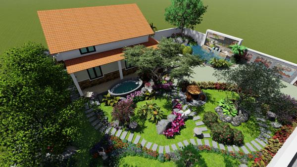Sân vườn đẹp nhà cấp 4 - những lưu ý cần biết khi thiết kế 1